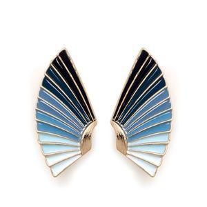 NEW Lulu Frost Horizon Ombré Enamel Fan Earrings